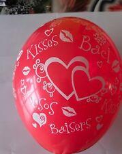50 PALLONCINI KISS BACI ROSSI GLOBO rosso