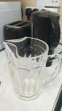 More details for vintage glass bar jug from the 1940s/1950. queen's choice pattern two pint in...