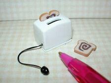 Miniature White Toaster w/Cinnamon Bread for DOLLHOUSE Miniatures 1:12 Scale