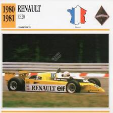 1980-1981 RENAULT RE20 Racing Classic Car Photo/Info Maxi Card