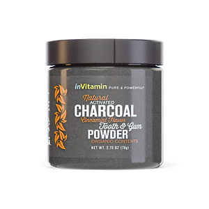 Natural Whitening Activated Charcoal Tooth Powder (Cinnamint)