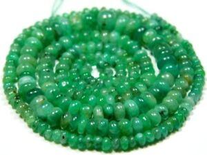 Real Emerald 4mm diameter (100 Plain Precious Rondelle beads) 38 Carats-Gorgeous