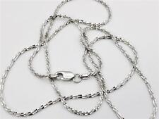 "14K 16"" Inch 1.1mm Solid White Gold Diamond Cut Sparkle Necklace Chain"