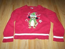 Boys Size 4-5 Red Christmas Holiday Sweater Reindeer Puppy Dog Embroidered EUC