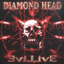 DIAMOND HEAD EVIL LIVE 2 CD SET 2001 SANCTUARY CASTLE IMPORT THRASH METAL ROCK