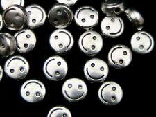 25 unidades - 6mm Plata Tibetana Cara Sonriente espaciador granos Craft hallazgos Abalorios J164