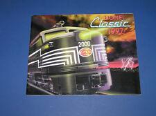 LIONEL CLASSIC 1997 CATALOG