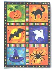 Halloween Squares Large Flag by NCE 73151
