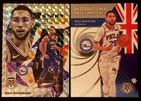 2019-20 Panini Mosaic Ben Simmons 2 Card Lot-Stare Masters Silver Prizm-IMOM...