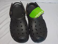 Mens Crocs Swiftwater Deck Clogs Espresso / Black Mens Size 7