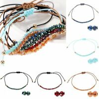 Fashion Women Crystal Beaded Bracelet Bangle Handmade Rope String Jewelry Gifts