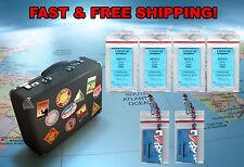 4 Norwegian Cruise Lines Luggage Tag Holders & 2 I.D Holders / Lanyards Zip Lock