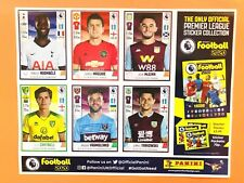 Panini Football 2020 (Premier League) Collection - Uncut Sheet of 6 Stickers