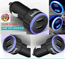 DOUBLE USB IN CAR CHARGER MICRO CIGARETTE ADAPTER FOR MOTOROLA MOTO G / MOTO X