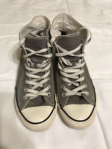 All Star Converse Chuck Taylor Men's Gray High Top Sneakers, Size 9. EUC