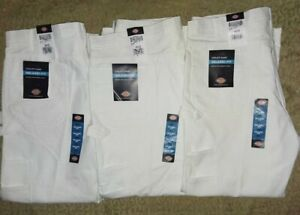 3 Dickies Men's Utility Painters Pants White  Relaxed Fit Size 40x30