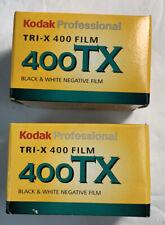 2 Rolls Professional Tri-X 400 Black & White 400Tx 35mm 36exp Negative Film