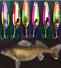 """2 5//8/"""" Gold Hammered Trolling Flutter Spoons Lake Erie Walleye Candy GHT 5"""