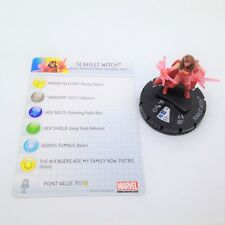 Heroclix Chaos War set Scarlet Witch #006 Fast Forces figure w/card!