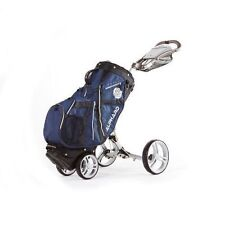 Navy Alphard Golf Club Cart Bag That Converts Into A Deluxe 4 Wheel Walking Cart