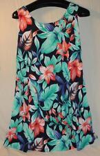 Kisses & Hugs Hawaiian Print Sleeveless Sun Dress, Size L Free Shipping! Beach