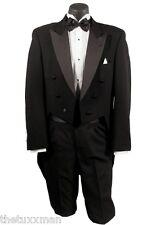 Boys Size 12 Chaps Black Peak Tuxedo Tailcoat Tux Tails Coat Dance Formal 12B