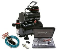 COMPRESSOR WITH TANK + HARDER & STEENBECK INFINITY CRPLUS 2 in 1 AIRBRUSH KIT