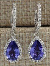 Elegant Women 925 Silver Tanzanite Stud Drop Dangle Earring Wedding Jewelry New