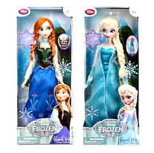 "New Disney Frozen Singing Dolls ELSA and ANNA  16"" tall Set"