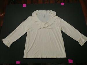Long Blouse Shirt - L - White - White Stag