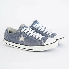 MENS VINTAGE CONVERSE ONE STAR TRAINERS CANVAS BLUE SNEAKERS UK 9.5 EU 43