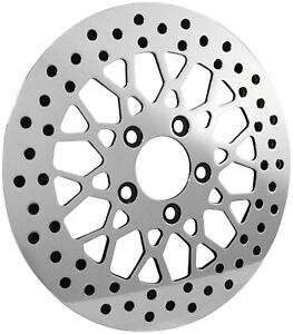 Biker's Choice Polished Rotor Mesh Style - 11.5in. - Front M-RT-2160