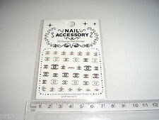 3D Nail tip Art stickers transfer water decals  Glitter Bling Silver J63