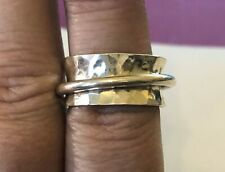 DOMINIQUE DINOUART Heavy 9g Mexico Sterling Silver Spinner Ring Size 9