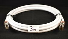 RG6 WHITE Quad Shield 3m Pal Male To Pal Female Cable Antenna TV Flylead