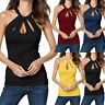 Women's Summer O Neck Sleeveless Solid Loose Casual Top Tee T-Shirt Blouses HY