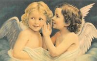 Deux petits Anges  - CPM - Format CPA