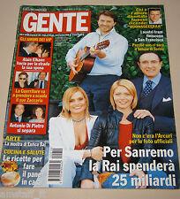 GENTE=2002/10=CARLO CONTI=SERGIO SALADINO=FESTIVAL SANREMO=WANNA MARCHI NOBILE S