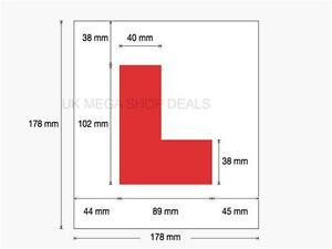Genuine 2 x L Plate Fully Magnetic Exterior Car Learner Secure & Safe Legal Size