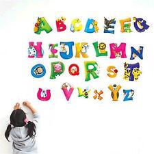 A-Z 26 Lettres Alphabet Autocollant Mural Décalque Vinyle Chambre D'enfant MZ