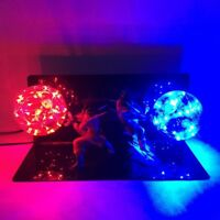 Rare Dragon Ball Z Vegeta VS Son Goku Figure Red Blue LED Light Lamp Kid's Gifts