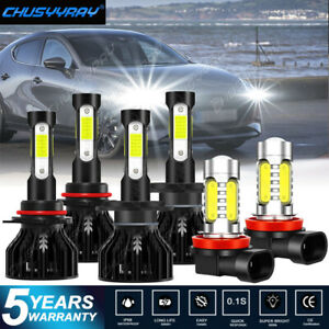 6x 9005 H7 LED Headlight Bulbs Kit For Mazda 3 2004 2005 2006 Protege5 2002-2003