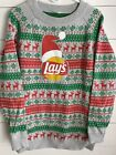 Frito Lay Potato Chips UGLY CHRISTMAS SWEATER Men's X-Large Gray Lays Red Green
