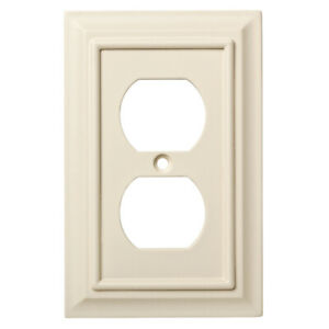 W10766-LAL  Lt Almond Single Duplex Outlet Cover Wall Plate