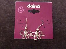 Claires Hollow Butterfly dangle Silver Drop earrings nice Chinese cute charm NEW