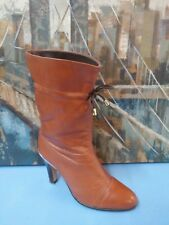 WOMENS UNKNOWN BRAND CUTE BOOTS WINE SIZE 6 M