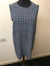 Esmara Blue 60s Style Shift Dress, Size 18