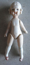 "Vintage Jointed Bisque Tall Character Girl Doll 7 3/4"" Tall"