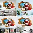 3d Christmas Wall Stickers Removable Xmas Glass Decals Clings For Home Decor