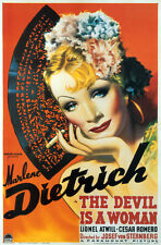 The devil is a woman Marlene Dietrich movie poster